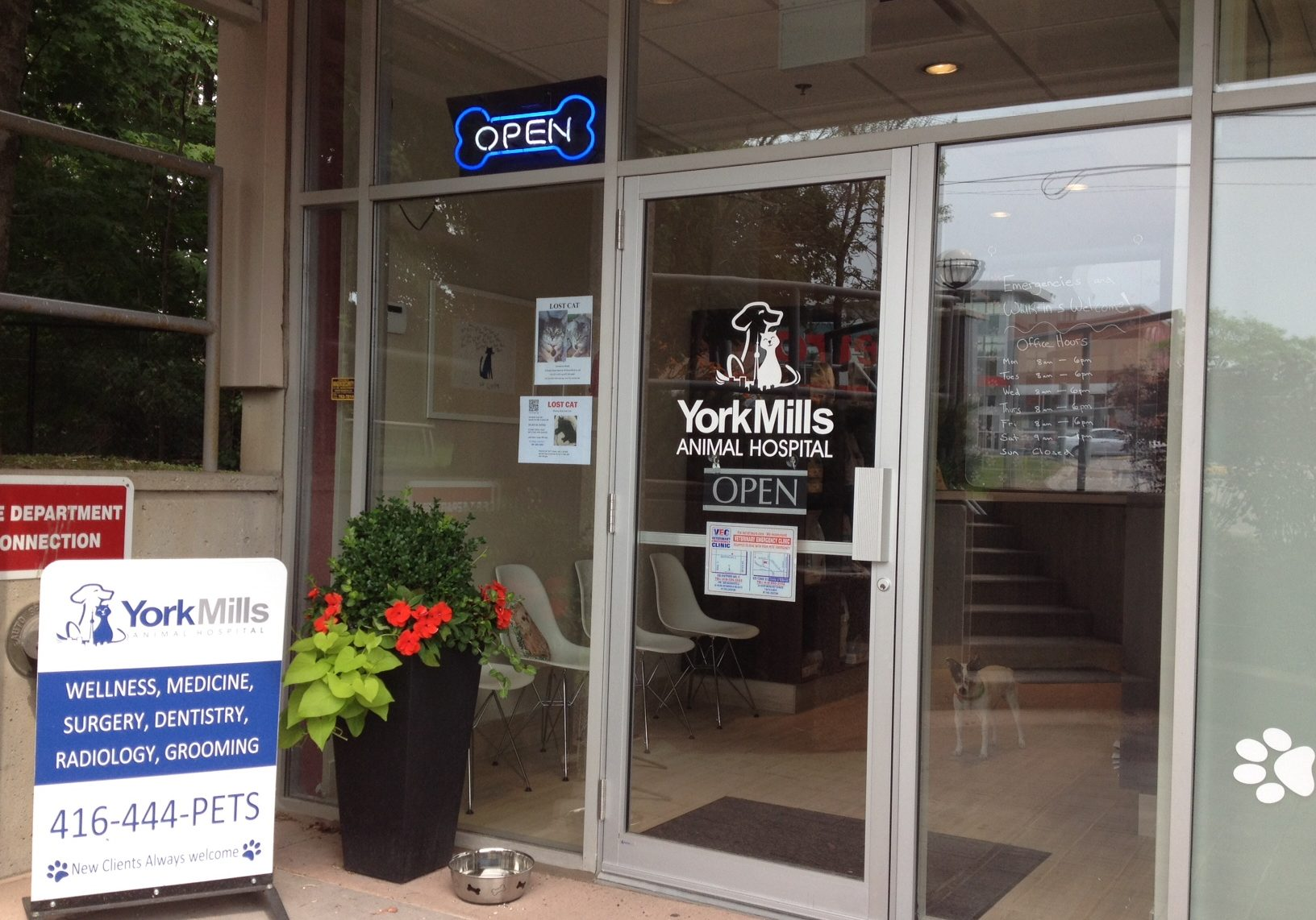 York Mills Vet front entrance